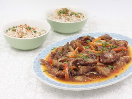 Sweet Spicy Pork Cheeks