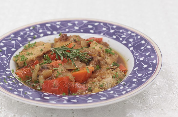 Inspired by Simon and Garfunkel's Scarborough Fair, this chicken stew is cooked in apple cider and flavored with parsley, sage, rosemary and thyme.
