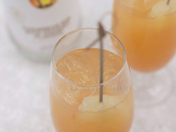 Bring a little sunshine to your New Year's Eve party with this fresh and bright pineapple grapefruit coconut rum cocktail! No bartending skills required.
