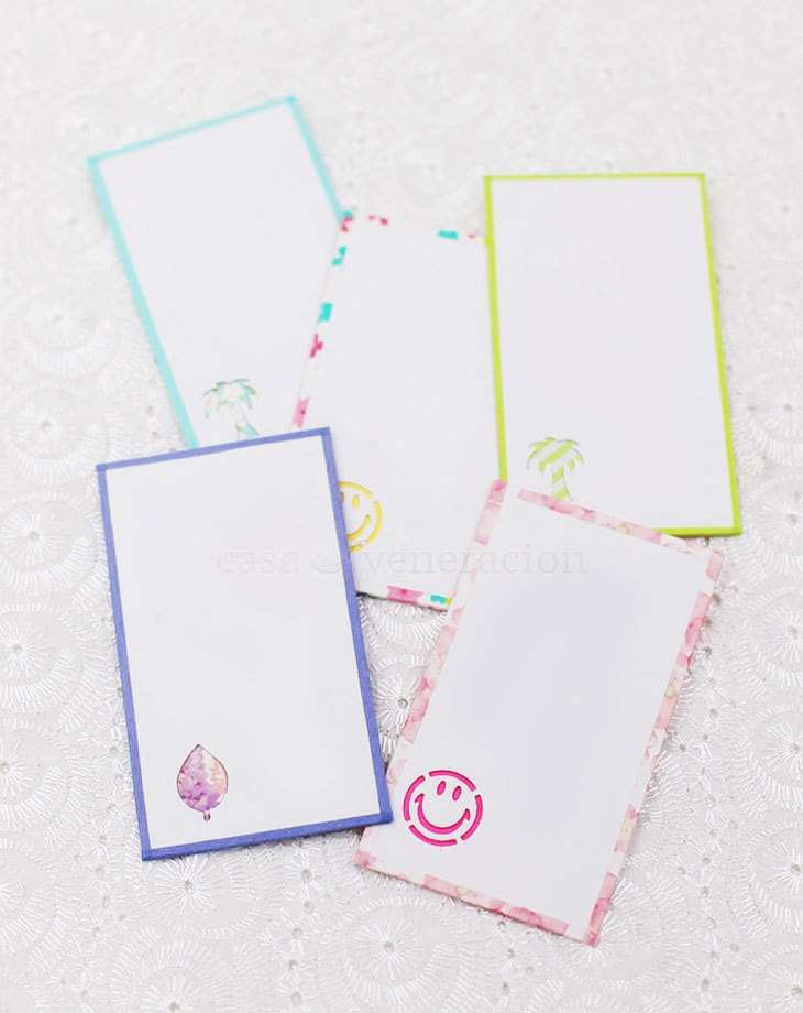 With craft punchers, glue and washi tape, you can turn old business cards into beautiful and unique gift tags. Oh, and yes, you'll need imagination too.