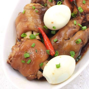 Often discarded at the butcher's for being unfit for human consumption, pork trotters are a delicacy in Asia. Browned then slow cooked, Chinese soy sauce braised pork trotters are sticky, gelatinous and delicious.
