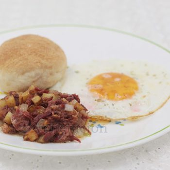 Corned Beef Hash and Egg for Breakfast