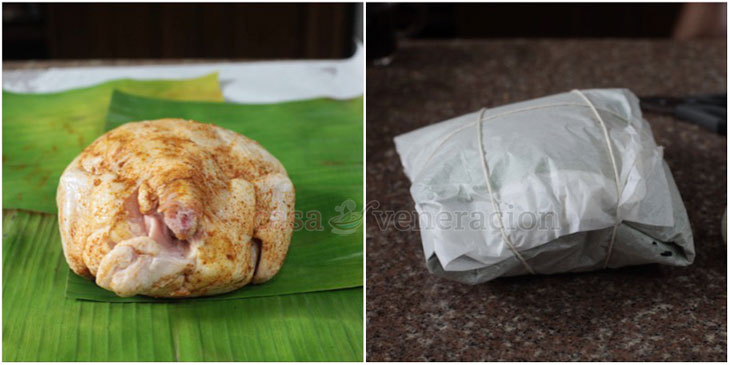 How to cook Chinese salt baked chicken (Filipino pinaupong manok): step-by-step