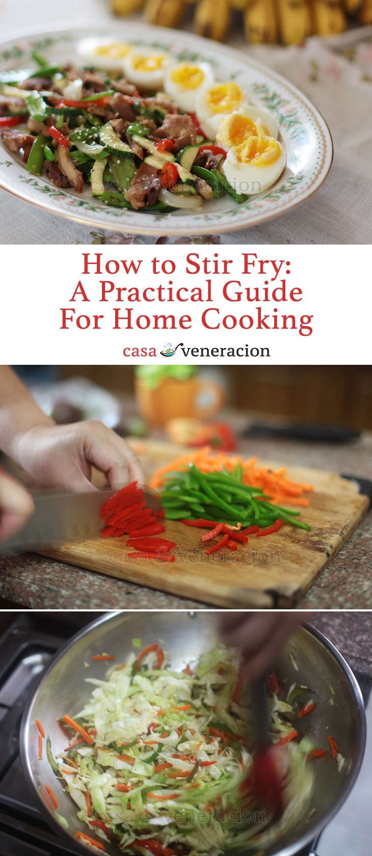 How to Stir Fry: A Practical Guide For Home Cooking - Just because a dish is cooked in a wok doesn't automatically make it a stir fry. Stir frying is a cooking method by which similarly sized ingredients are cooked for a short time over intensely high heat.