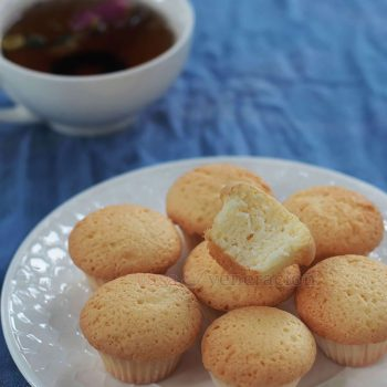 Addictive little buggers, these Chinese egg cakes are sponge-y and light, and lovely with tea. So easy to make because there is no need to separate the egg yolks from the white.