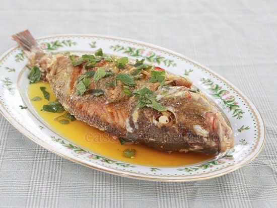 Fried Fish With Sticky Sweet Sour Lemon Sauce