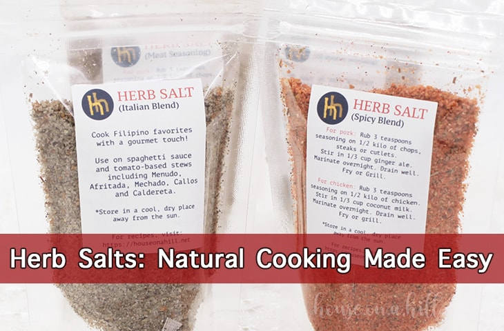 Herb Salts by House On A Hill: Natural Cooking Made Easy. Try them now! Available at shopee.com/houseonahillph