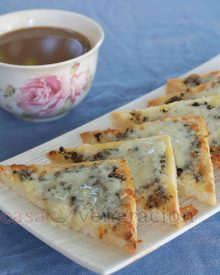 Spread a simplified pesto on the bread, pile on grated Pepper Jack Cheese, pop into a hot oven for three to four minutes and, presto! Serve Pepper Jack cheese toast with coffee for a bright way to start your day.