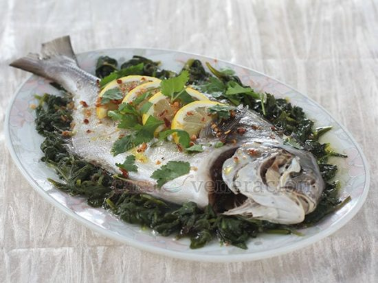 Steamed Fish With Lemon and Olive Oil
