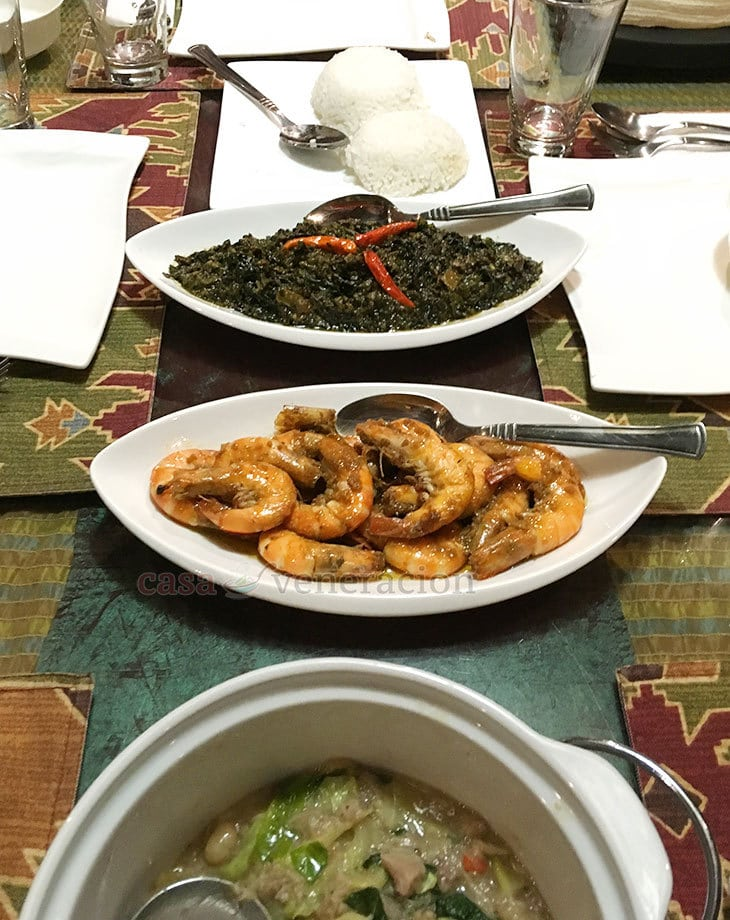 KUS Private Dining: Laing and Prawns in Garlic Butter