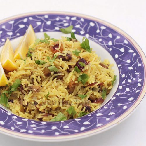 Colorful and tasty, this cranberry and pistachio pilaf gives you a little tang, a little crunch and a little sweetness with every mouthful!