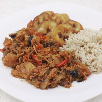 "Ropa vieja translates to ""old clothes."" It is a Caribbean shredded beef stew with variants found in Cuba, Panama, Puerto Rico and the Dominican Republic."