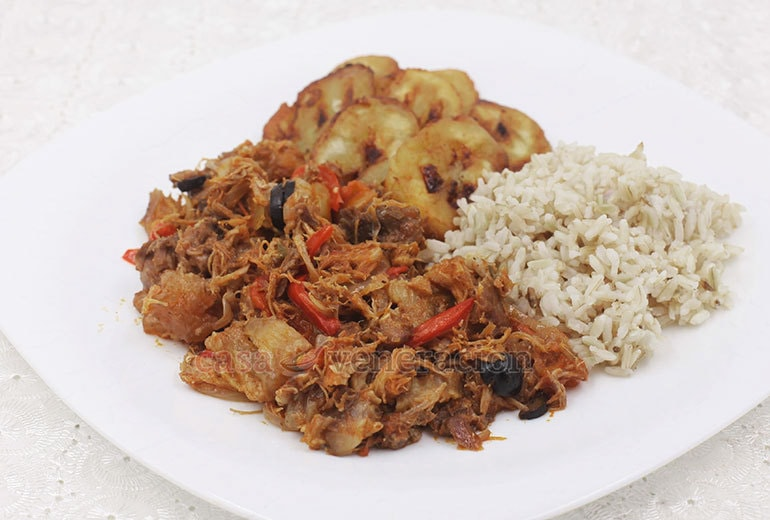"""Ropa vieja translates to """"old clothes."""" It is a Caribbean shredded beef stew with variants found in Cuba, Panama, Puerto Rico and the Dominican Republic."""