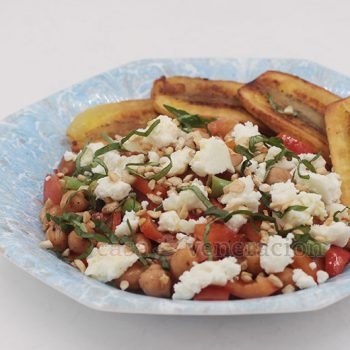 Recipe for Warm Chickpea and Green Beans Salad