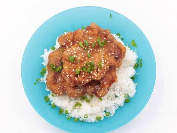 Inspired by a dish featured on Season 2 of Somebody Feed Phil, pork chops are fried then cooked in vinegar. My version has soy sauce, vinegar and rice wine.