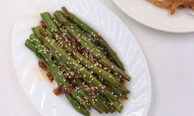 Vegan and delicious. Soy garlic green beans cooks in seven minutes flat and prep time is under five minutes. May be served as a side dish too.