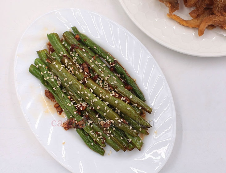 Soy Garlic Green Beans Recipe