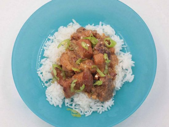 Bicol Express (Pork and Chilies Stewed in Coconut Milk)