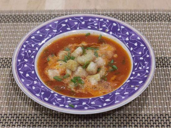 Tomato Soup With Herbed Croutons