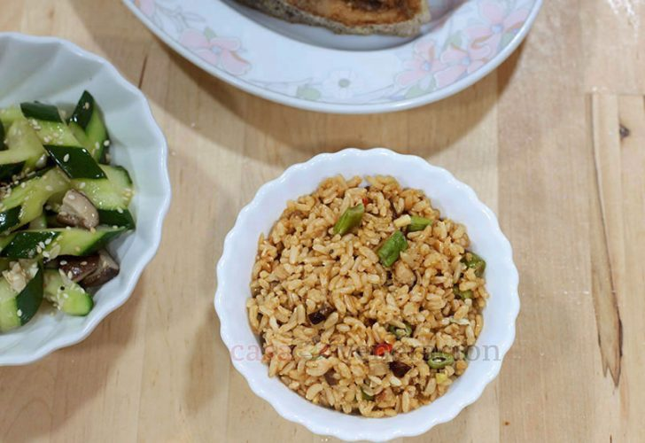 Chili Mushroom Fried Rice