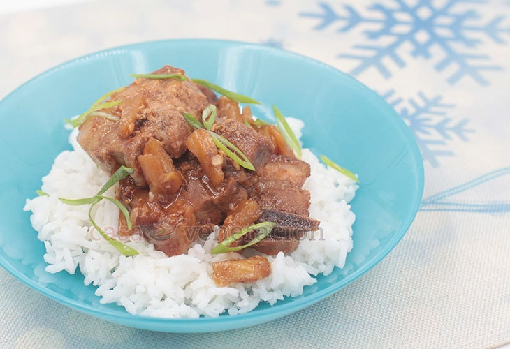 How to Cook Balsamic Pork Adobo With Pineapple