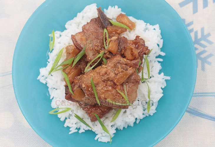 A New Twist on a Filipino Classic: Balsamic Pork Adobo With Pineapple