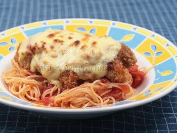 Chicken Parmigiana With Angel Hair Pasta Recipe