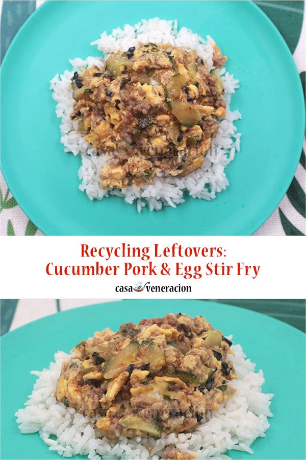 How To Cook Scrambled Eggs with Pork and Cucumber Stir Fry