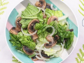 Mushroom Salad With Lemon Butter Dressing