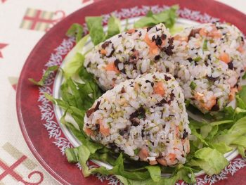 Smoked Salmon and Furikake Onigiri Recipe