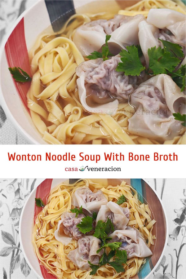 Make this delicious wonton noodle soup with bone broth today!