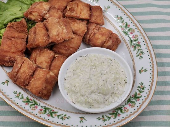 Tonight's Dinner: Fried Fish With Tangy Yogurt and Cucumber Sauce
