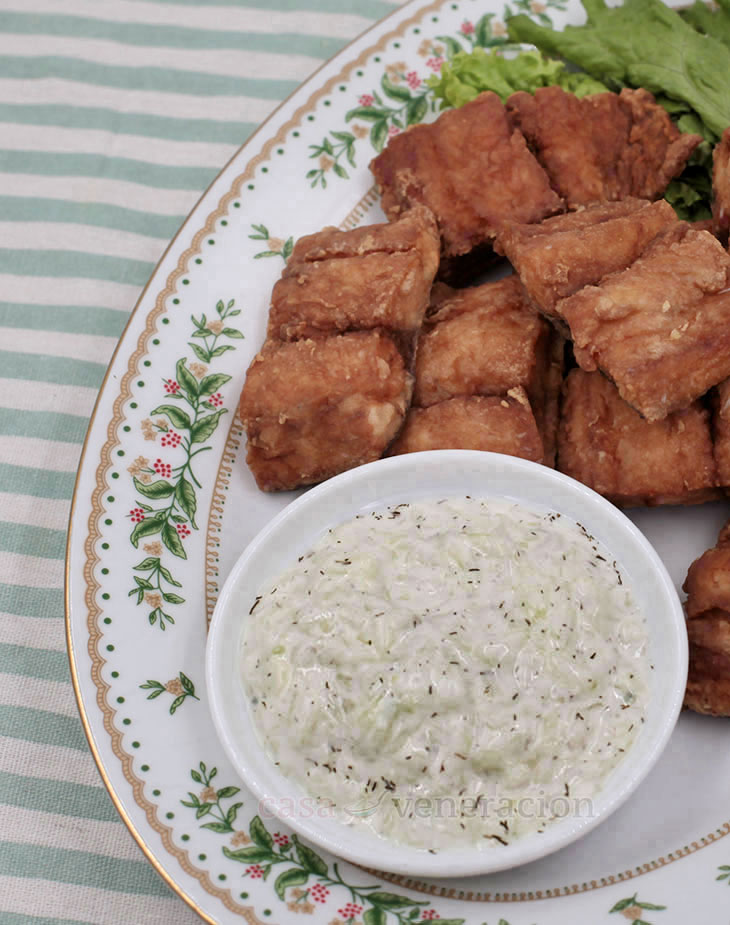 Fried Fish With Tangy Yogurt and Cucumber Sauce - CASA