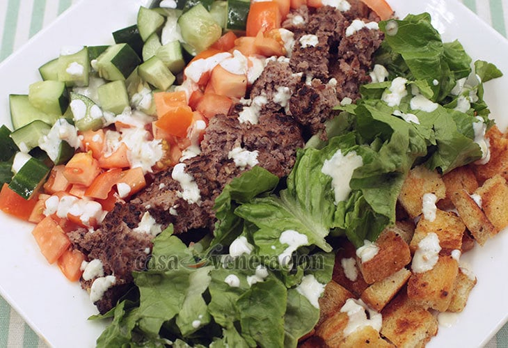 CASA Veneracion's Burger Salad Recipe