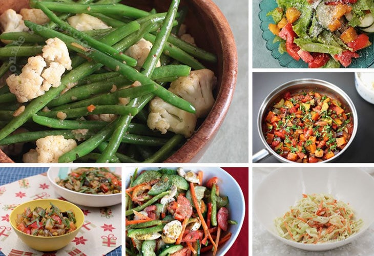 Salads and vegetable side dishes for Thanksgiving and Christmas