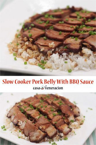 Make this Slow Cooker Pork Belly With Barbecue Sauce for the holidays!