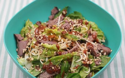 Beef and Bean Sprout Salad With Satay Dressing Recipe