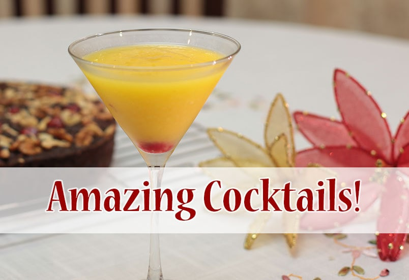 Colorful cocktails for the holidays!