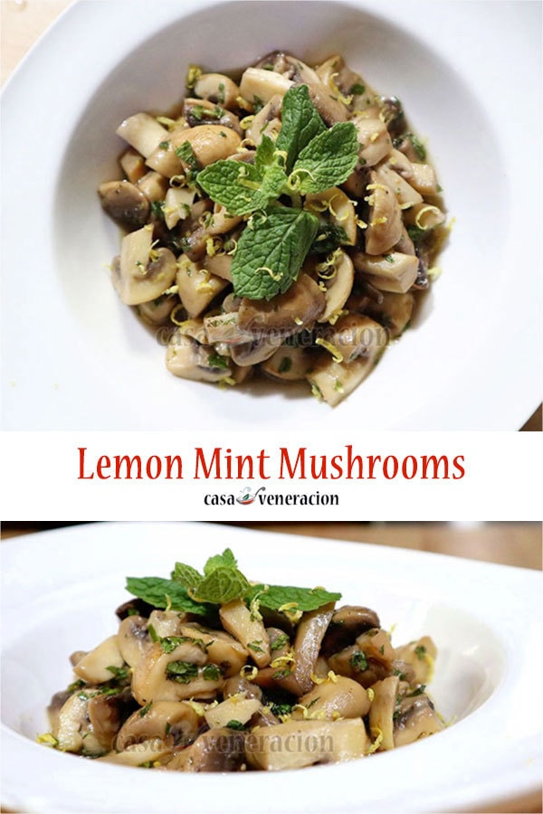 How to Cook Lemon Mint Mushrooms