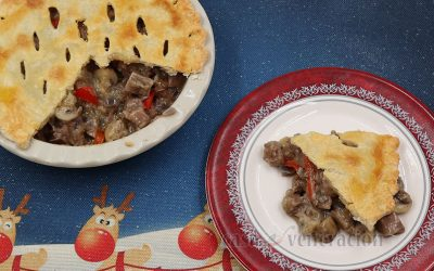 Pastel de Lengua a la King (Beef Tongue Pot Pie Cooked Chicken a la King Style)