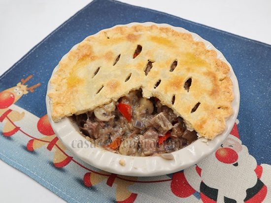 Beef Tongue a la King Pot Pie Recipe