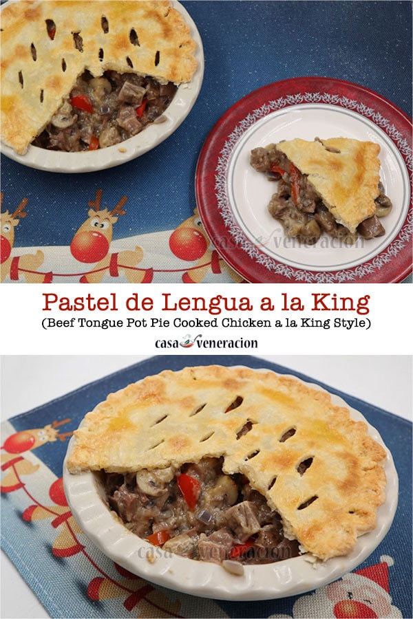 Beef Tongue Pot Pie (Cooked Chicken a la King Style) Recipe