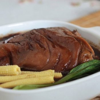 Braised pork hock, Chinese style