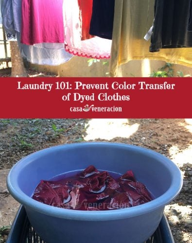 Laundry 101: Prevent Color Transfer of Dyed Clothes
