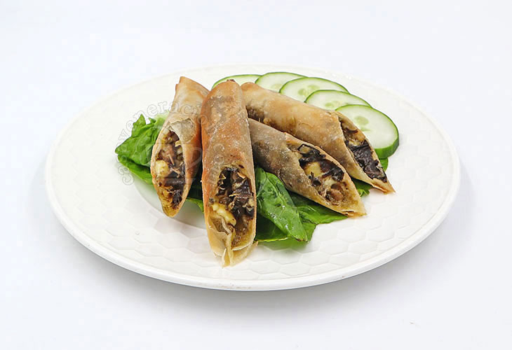 Cheese and Laing Lumpia (Fried Spring Rolls)