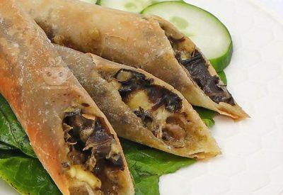 How to Make Cheese and Laing Lumpia (Fried Spring Rolls)