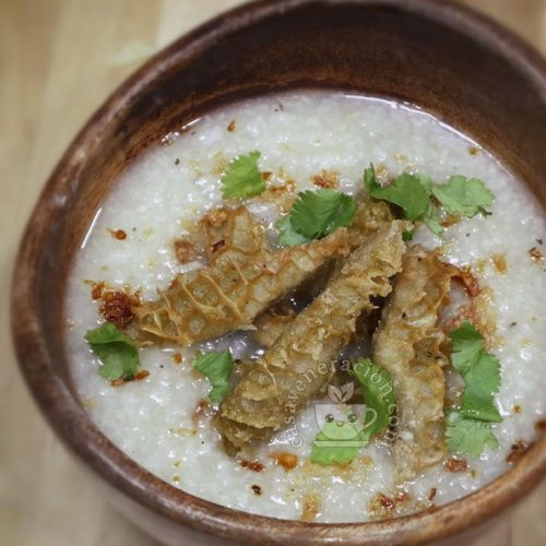 Slow Cooker Congee with Deep-fried Beef Tripe Recipe