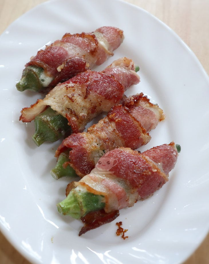 How to Cook Cheese-stuffed and Bacon-wrapped Okra