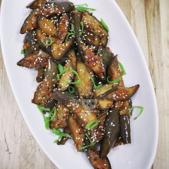 Fried Eggplants with Gochujang (Korean Chili Paste)