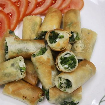 Spinach and Cheese Spring Rolls recipe